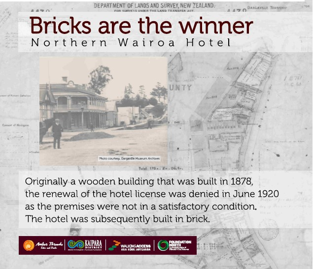 Northern Wairoa Hotel Plaque